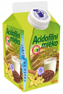 Acidofilní mléko vanilkové s cereáliemi a lněným semínkem získalo ocenění
