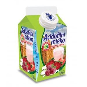 Obrázek k článku Regionální potravina roku 2013 - Acidofilní mléko jahoda - malina
