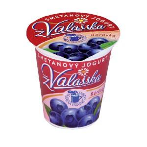Smetanový jogurt z Valašska borůvka