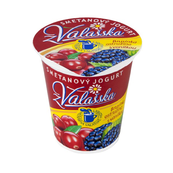 Smetanový jogurt z Valašska brusinka-ostružina s vanilkou