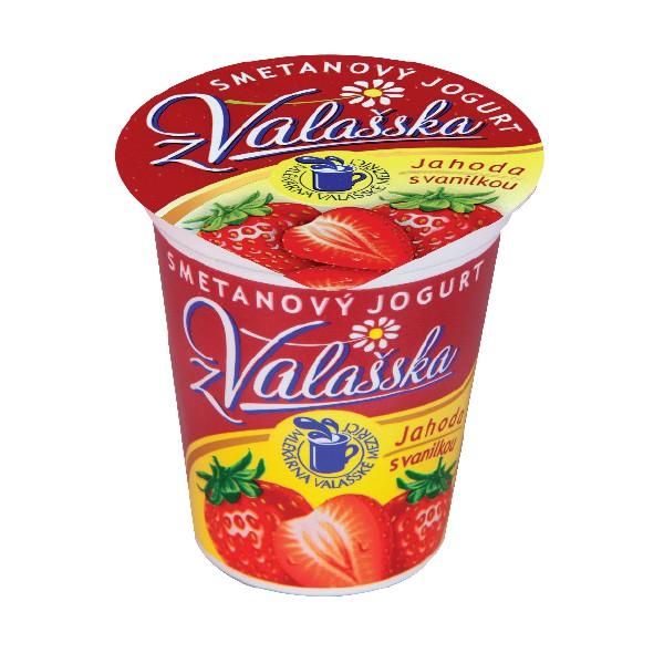 Smetanový jogurt z Valašska jahoda s vanilkou