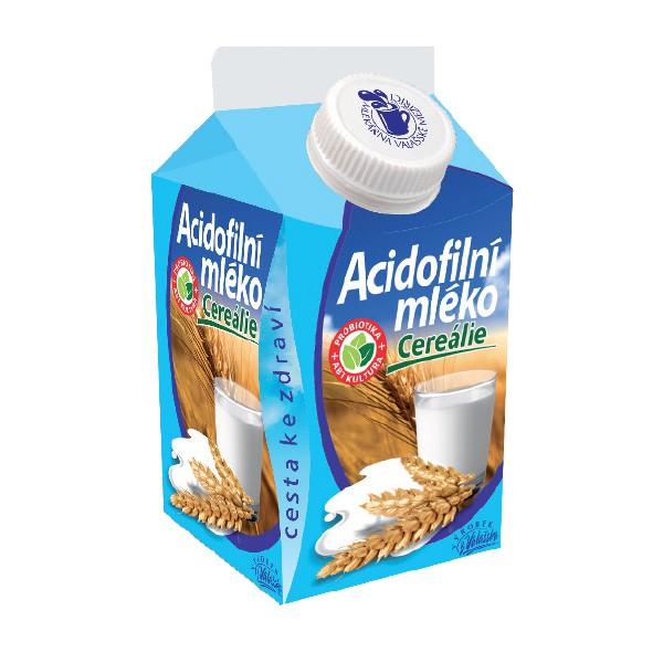Acidofilní mléko s cereáliemi