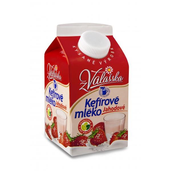 Kefírové mléko nízkotučné jahodové