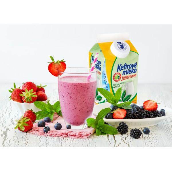 Letní koktejl z Kefírového mléka nízkotučného