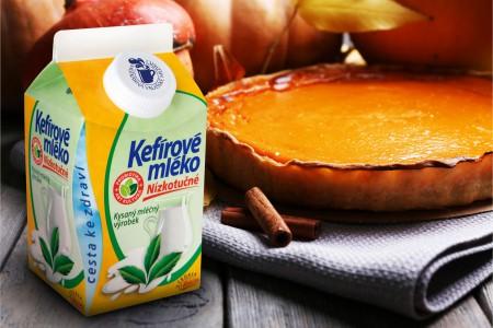 Dýňový podzimní koláč s Kefírovým mlékem nízkotučným